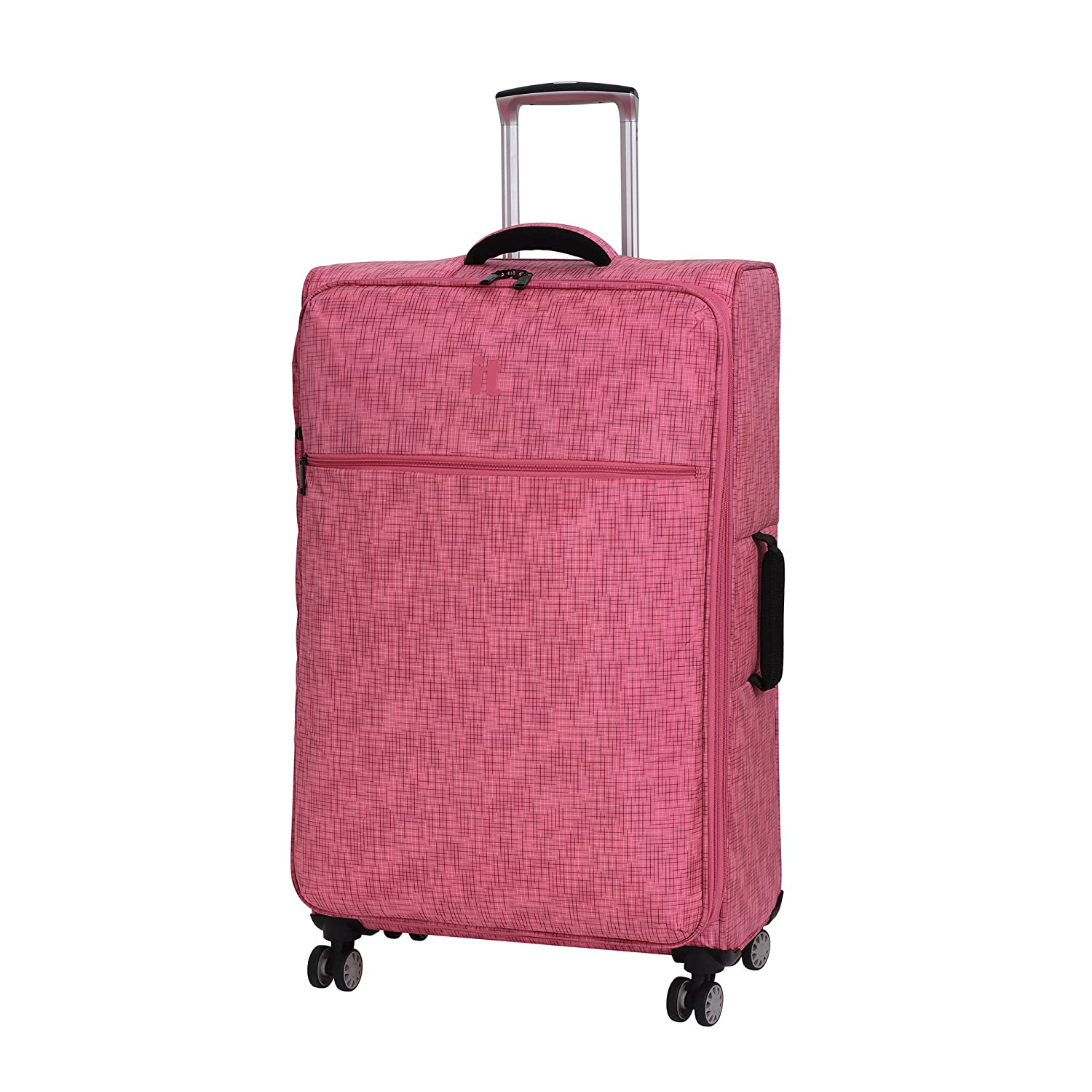 it luggage 30.5 Stitched Squares 8 Wheel Lightweight Expandable Spinner Black IT Luggage Parent Code 12-220108-UOL28-M133