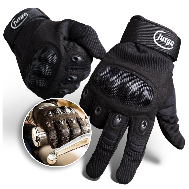 Jutgo Guantes de Dedos Completos Impermeables Para Moto Impermeable Para Hombres Negro