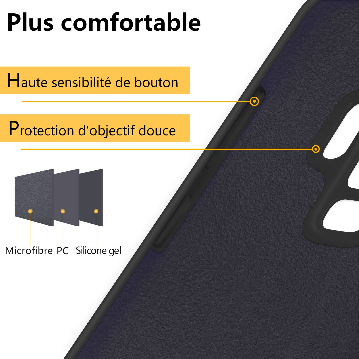 Coque Samsung Galaxy S9 , JASBONCoqueSiliconeLiquide Anti-rayure HousseProtectionSiliconeAnti-patinage GelCasepourSamsung Galaxy S9 – Noir