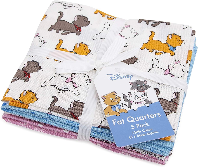 Disney 5 Fat Quarters Bundle Tela de algod/ón patchwork cuadrados 45 x 56 El Rey Le/ón