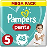 Pampers Pants Diapers, Size 5, Junior, 12-18 kg, Jumbo Pack, 48 Count
