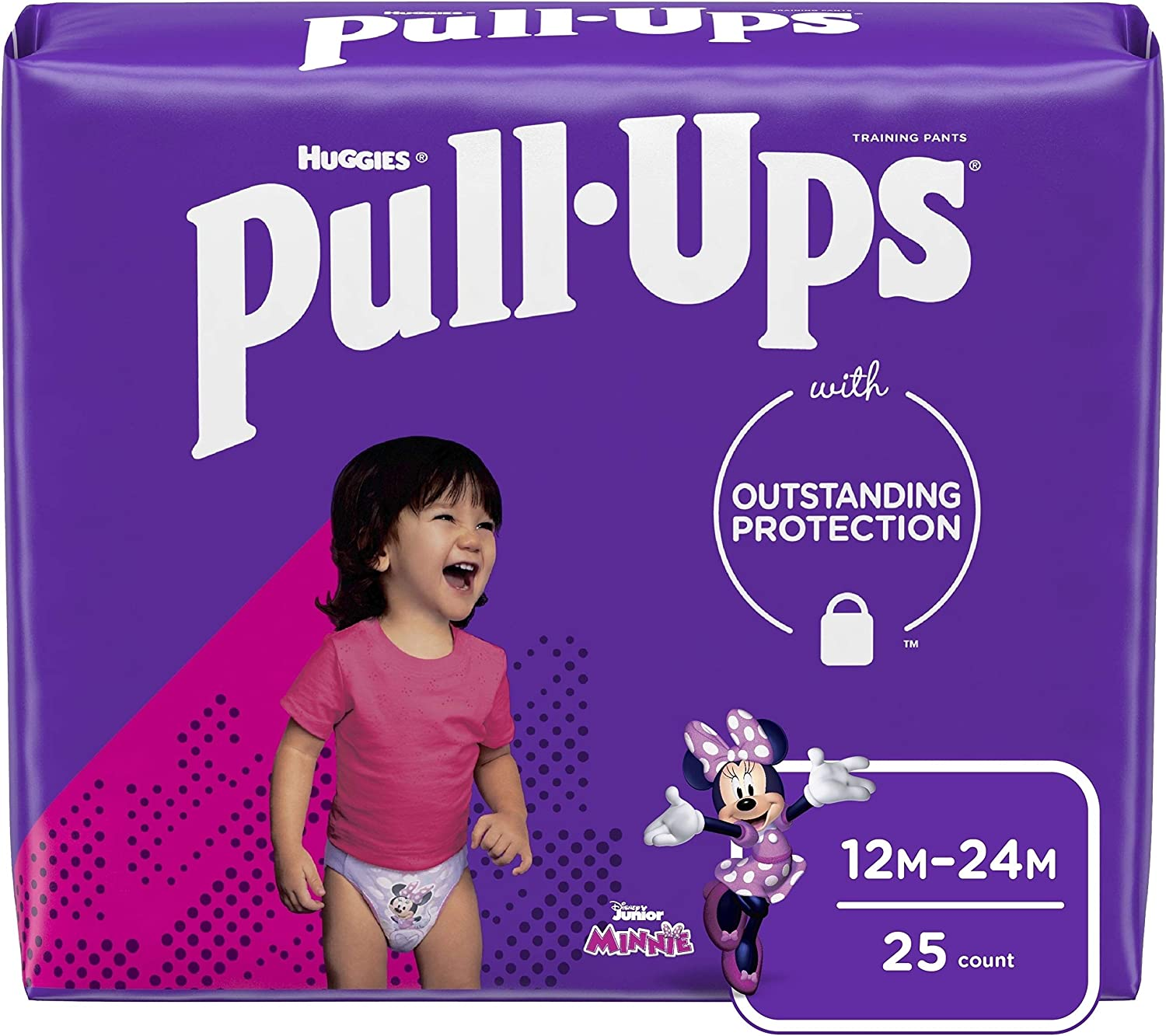 Pull-Ups Learning Designs Girls' Training Pants, 12-24M, 25 Ct