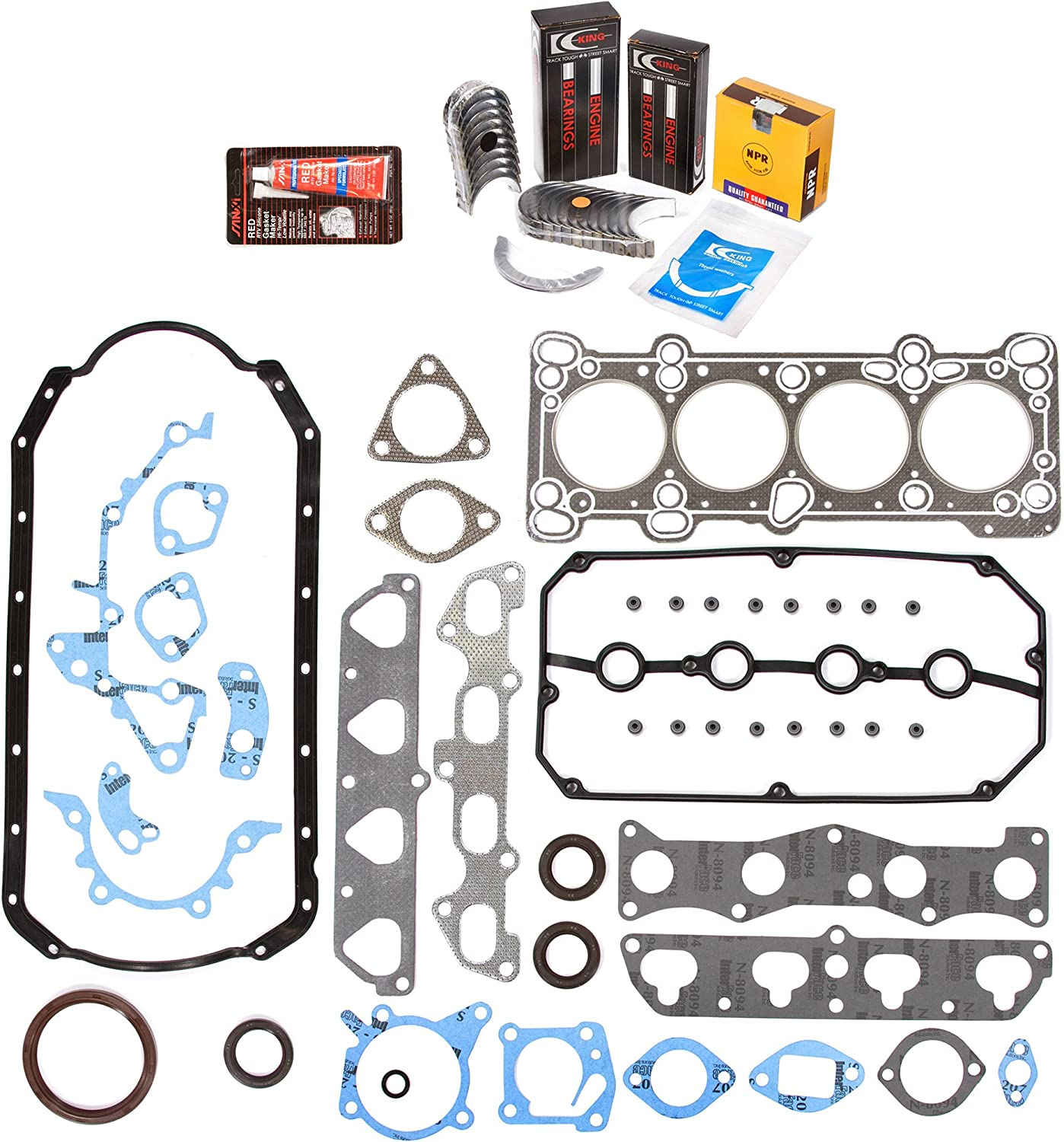 Full Gasket Set Pistons Bearings Fit 01-02 Kia Rio 1.5 DOHC A5D