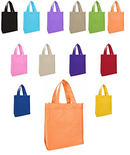 af6e4bf67ec20 Amazon.com  50 Pack - Non Woven Book Bags Gift Bags Full Gusset ...