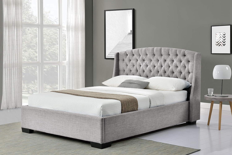 Comforium - Cama (160 x 200 cm), diseño y cabecero tapizado ...