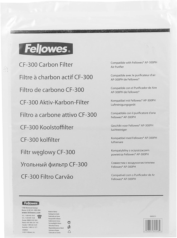 Fellowes 9372101 - Filtro de carbón para purificador de Aire 300 ...