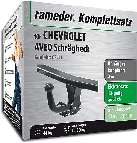 rameder Juego completo, remolque fijo + 13POL Elektrik para Chevrolet Aveo Hatchback (113259 –