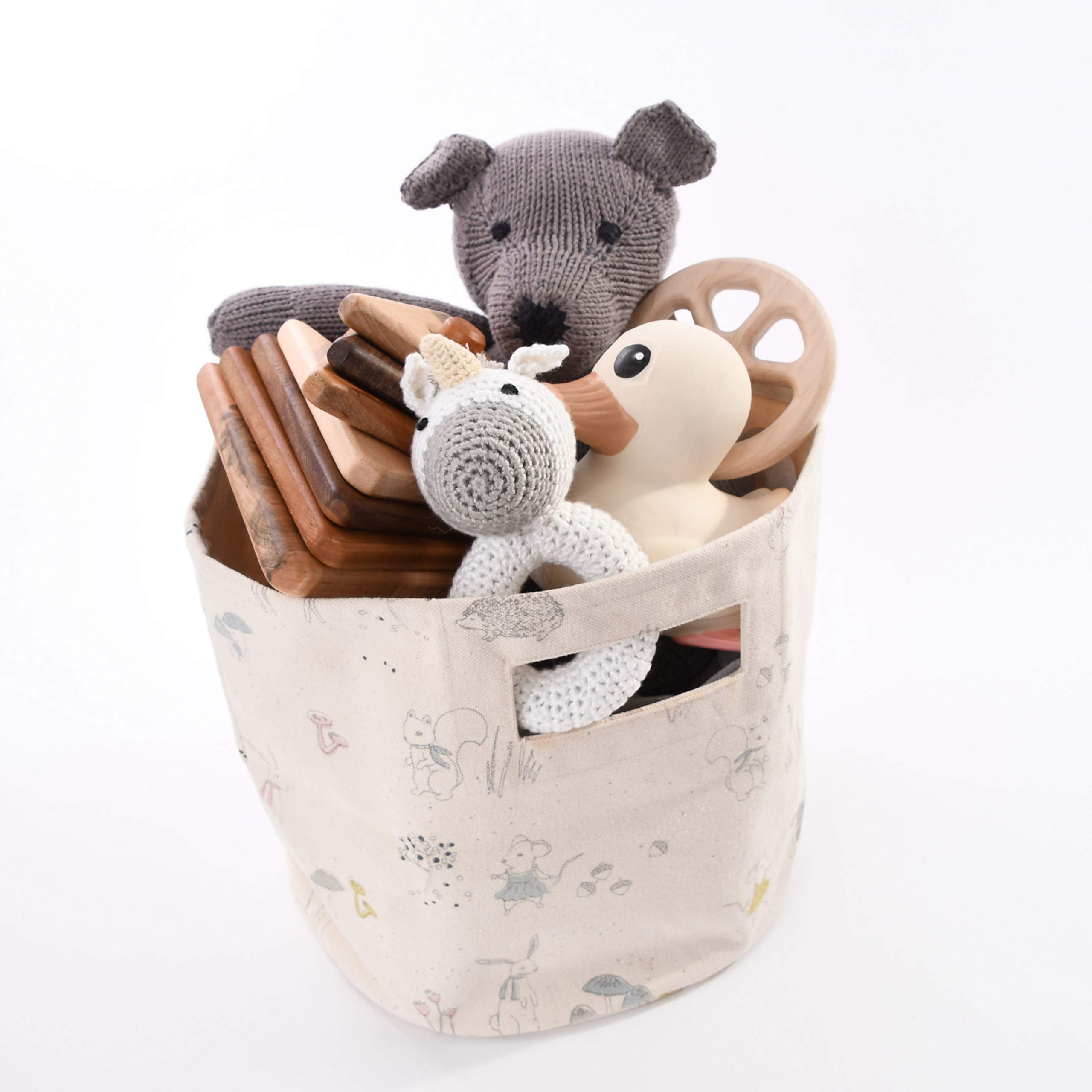 Organic Baby Toys Gift Set - Natural Teethers and Stuffed Toys