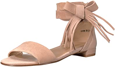 670a3b724 Stuart Weitzman Women s Corbata Flat Sandal Bisque 8 ...