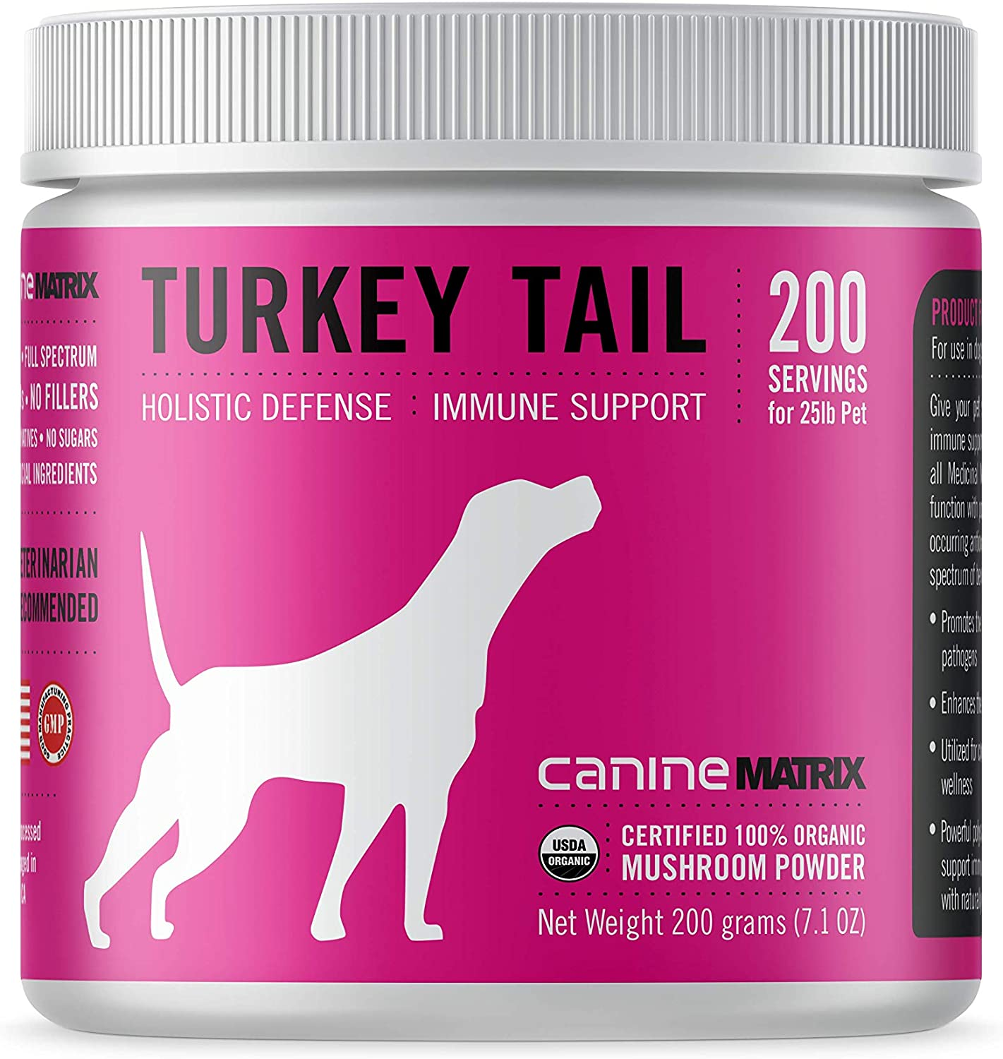 Canine Matrix Organic Mushroom Supplement for Dogs