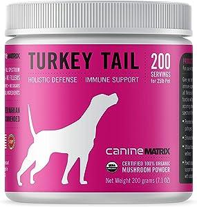 Canine Matrix Turkey Tail Mushroom Supplement