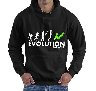 Sudadera «Evolution Parkour» con capucha, para hombres Negro negro Large: Amazon.es: Ropa y accesorios