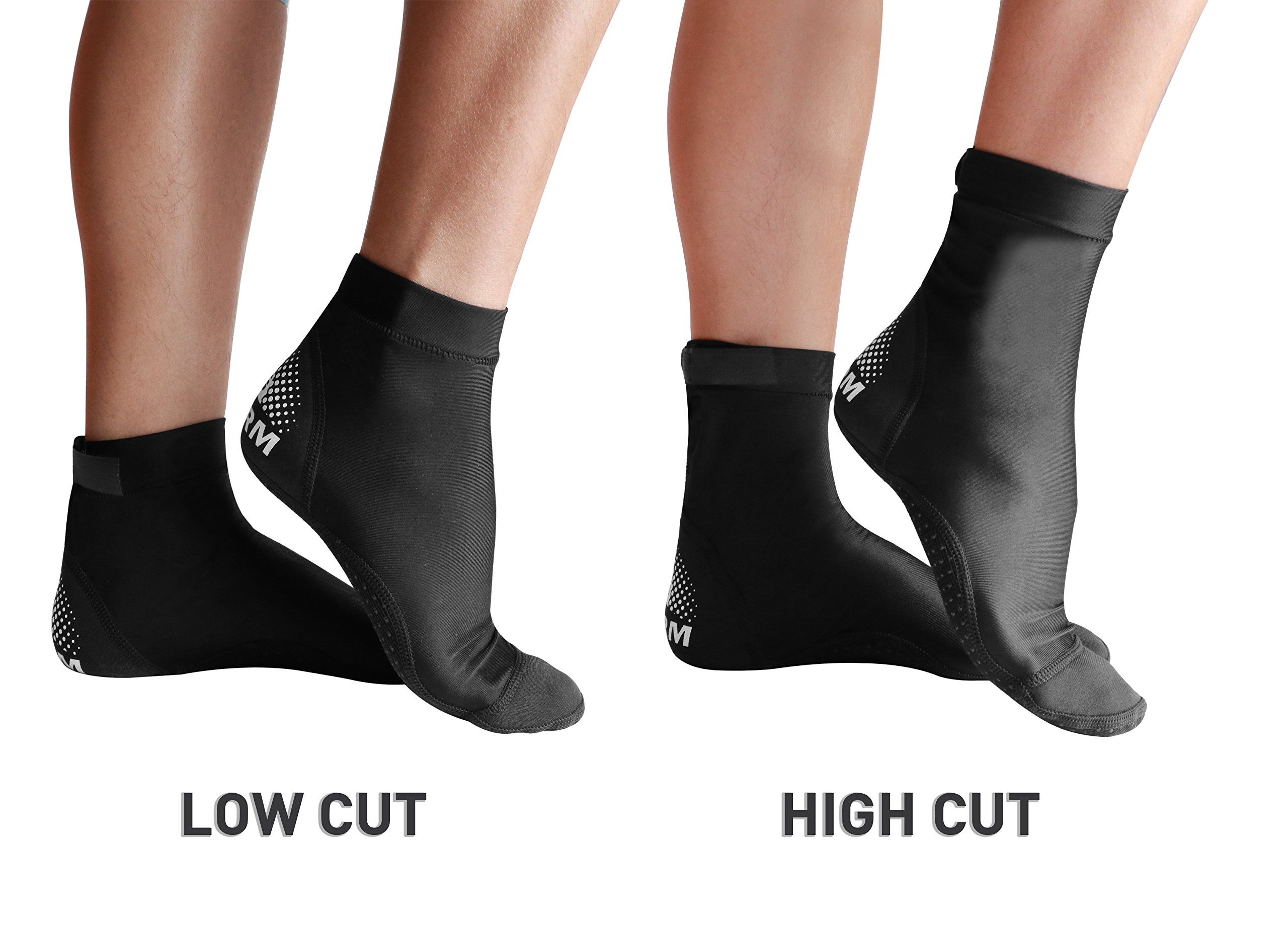BPS 'Second Skin' Ultra Stretch Lycra Fin Socks with Fit Adjustment Straps  for Snorkeling, Tide-Pooling and All Swimming Pool, Beach and Sand