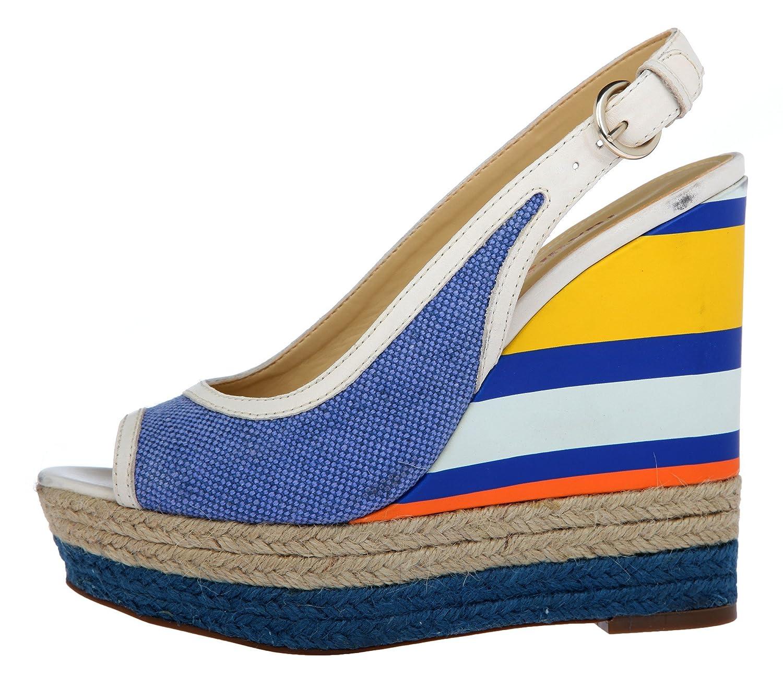 Luxury Rebel Damen Keilpumps-Peep-toe Blau LR-RUBIN-BLUE