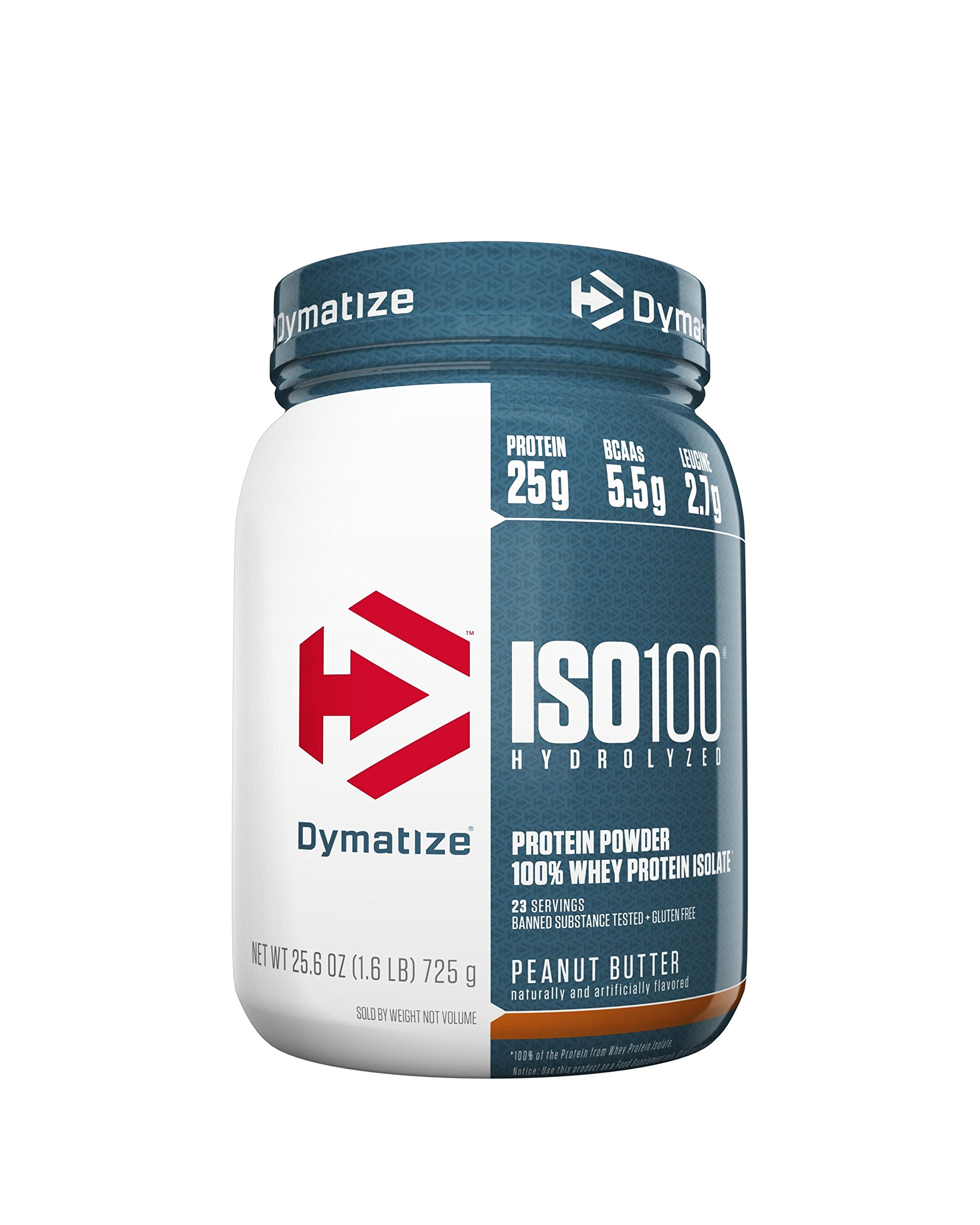Dymatize ISO 100 Whey Protein Powder Isolate, Peanut Butter, 1.6 lbs