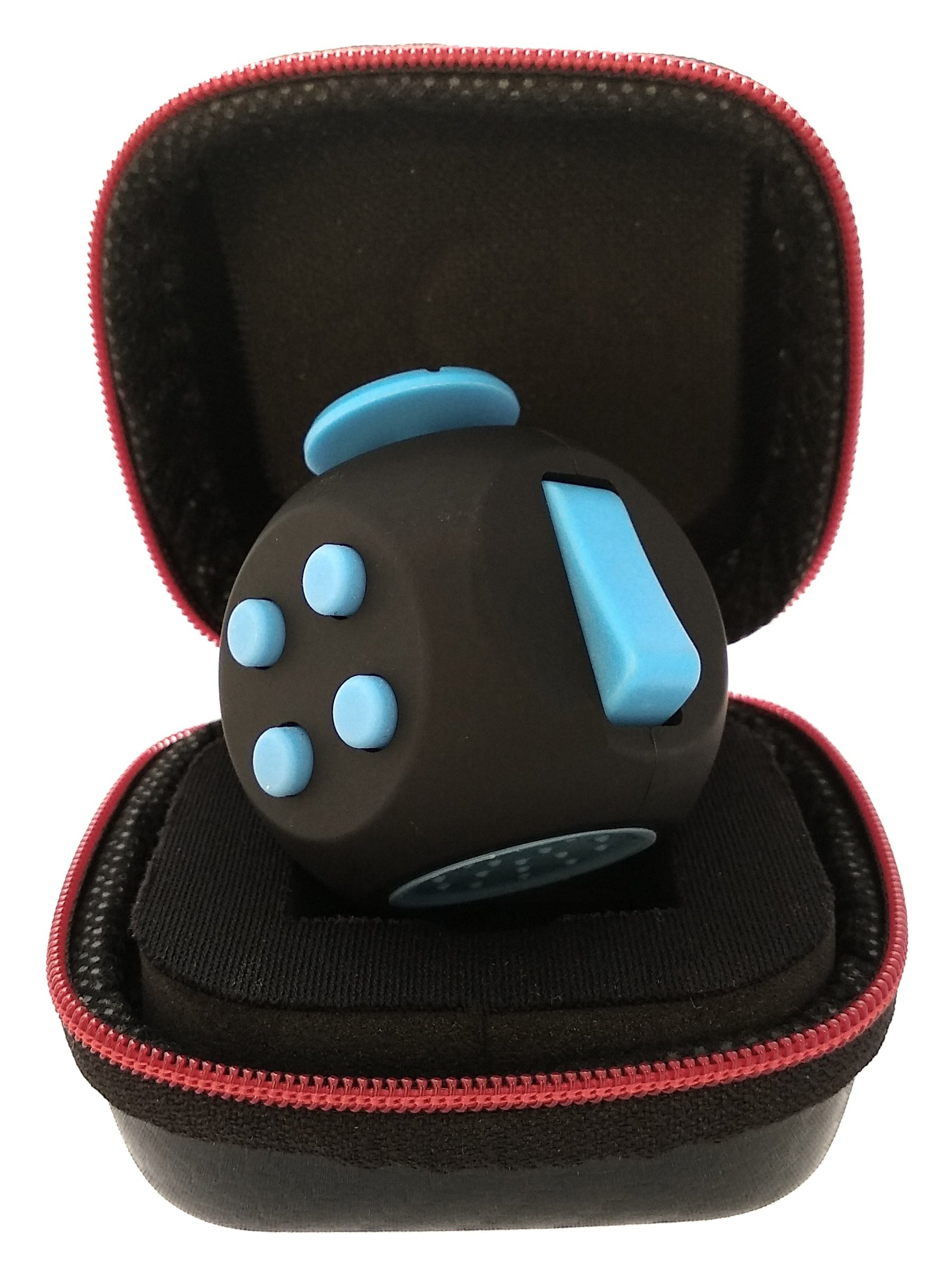 PILPOC theFube Fidget Cube - Premium Quality Fidget Cube Ball with Exclusive Protective Case, Stress Relief Toy (Black & Blue) by PILPOC