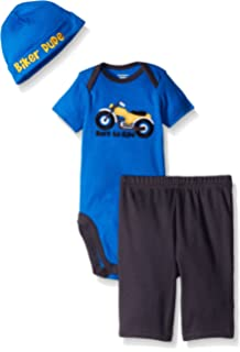 Gerber Baby Boys 3 Piece Bodysuit, Cap, and Pant Set