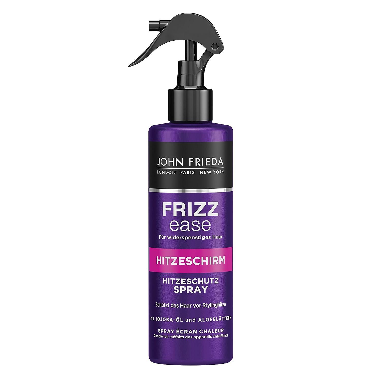John Frieda Frizz Ease Hitzeschirm Hitzeschutz Spray mit Jojoba-Öl und Aloe-Blättern, 2er Pack (2 x 200 ml) 22555