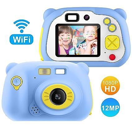 Cámara para Niños con Tarjeta TF,Cámara Digitale Selfie para Niños,Video cámara Infantil con Pantalla de 2 Pulgadas,HD 1200 MP/1080P Doble Objetivo,a ...