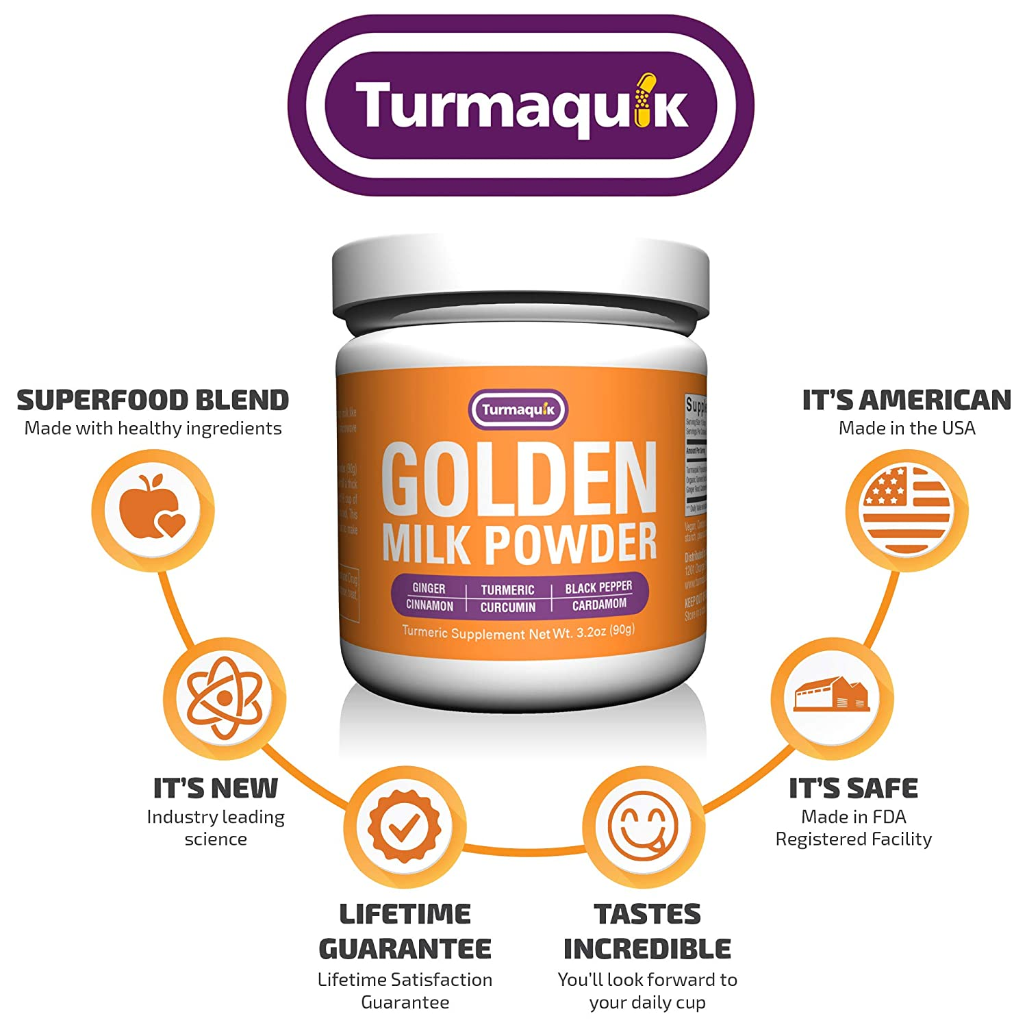 Golden Milk Powder (90 Servings) Turmeric