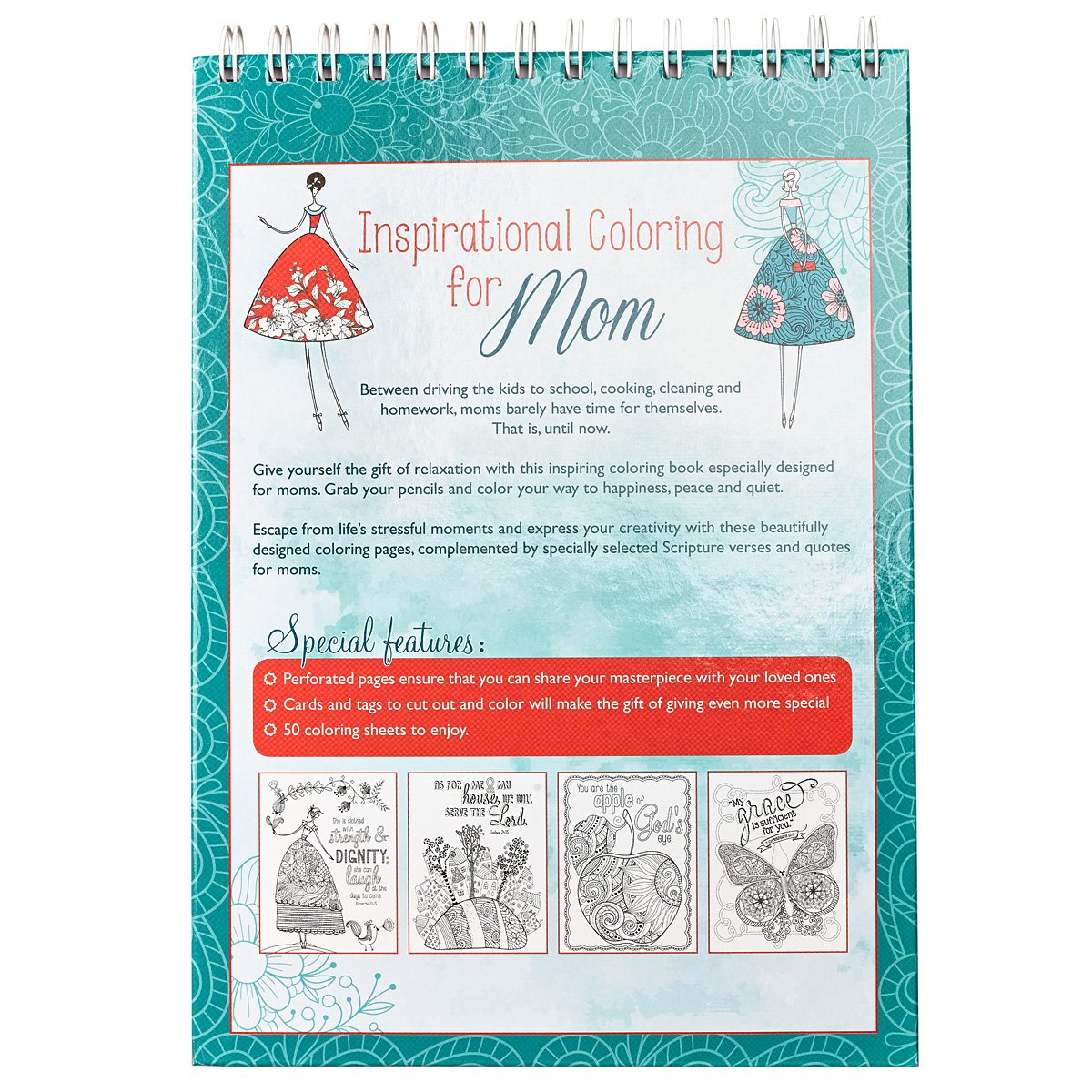 amazon com inspirational coloring for mom hardcover christian