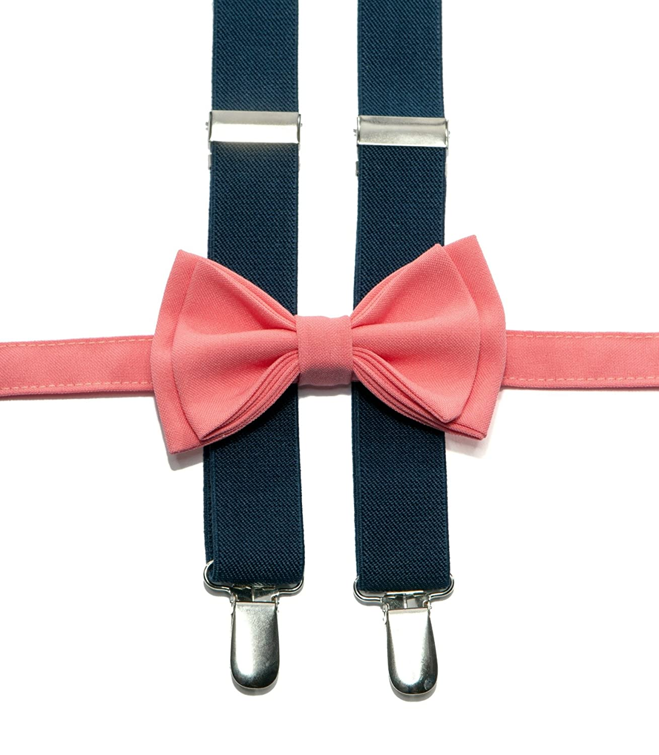 Navy Suspenders Bow Tie Set for Baby Toddler Boy Teen Men