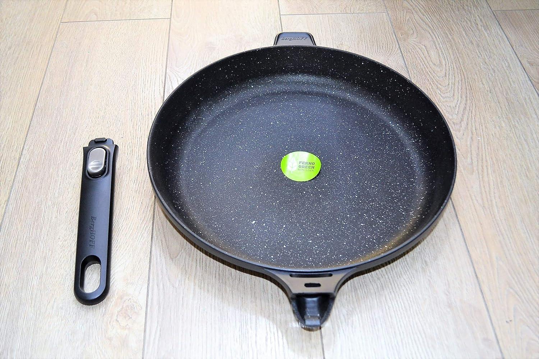 BergHOFF Bratpfanne Pfanne Stielpfanne Beschichtet Aluminiumguss Schwarz 32 cm
