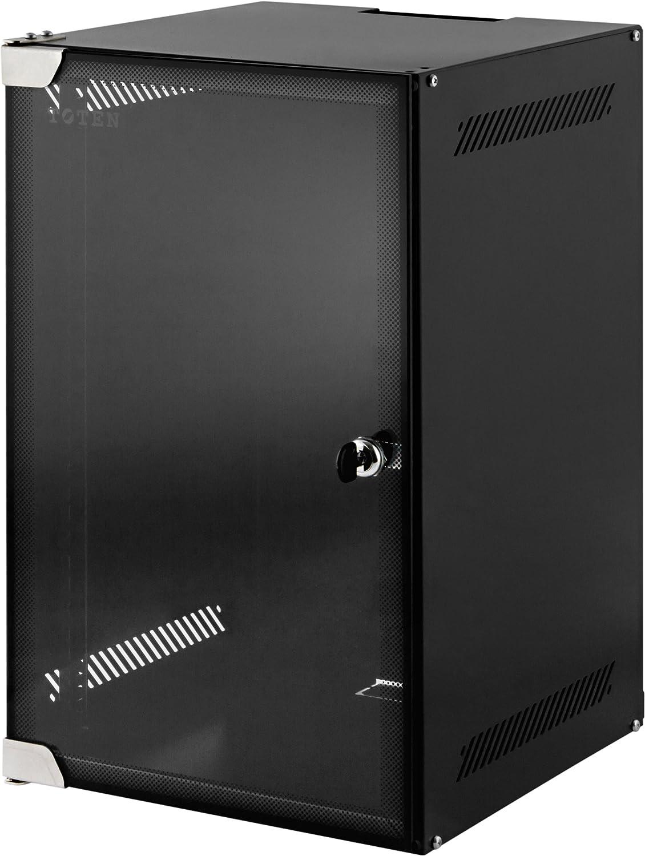 9 HE 10 Zoll 10' Wandschrank / Serverschrank mit Glastü r (BxTxH): 280x310x463mm - NEU! 19Power GmbH 10-3309