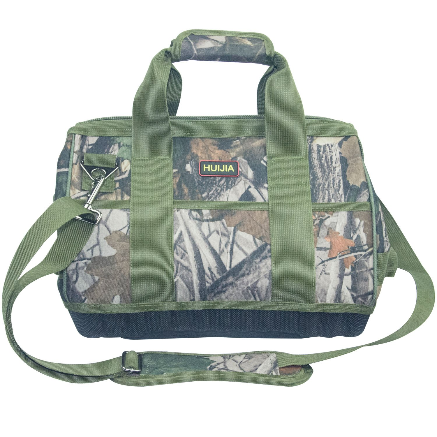 Super Heavy Duty Tool Storage Camo Bag with 4 Wear Resistant EVA Foam Base Green (M:13.4''X11''X8.7'') by HUIJIA