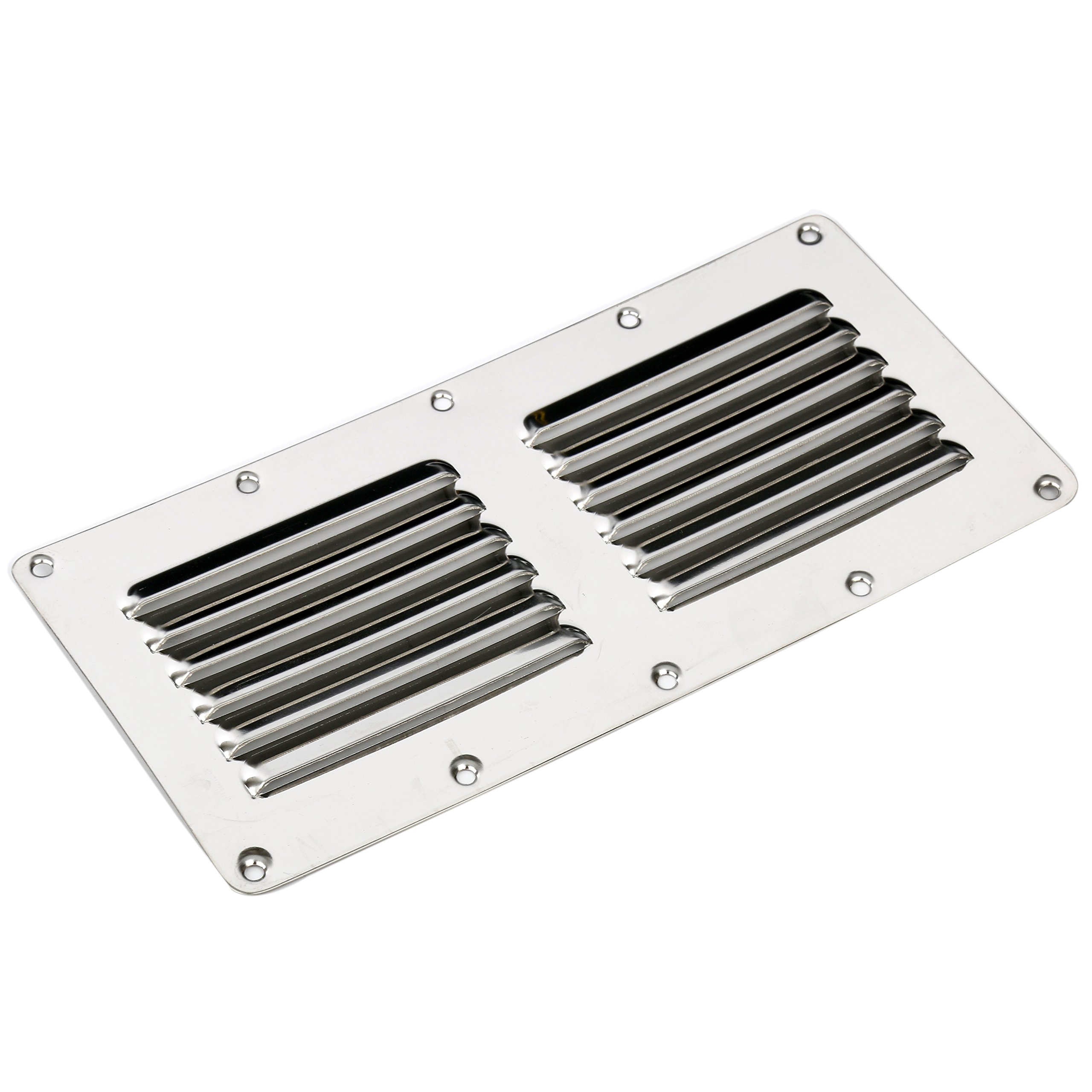 Amarine-made Stainless Steel Stamped Louvered Vent - Rectangular - 07723S - 4-1/2'' X 9'' by Amarine-made