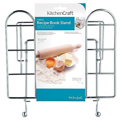 KitchenCraft Adjustable Folding Cookbook Stand / Tablet Holder