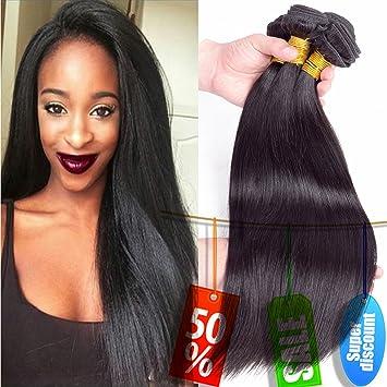 Baiermei Brazilian Virgin Hair Straight Hair 3 Bundles Natural Black Human Hair Extensions For Black