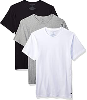 c5f469b4e4a4f6 Tommy Hilfiger Men's Undershirts 3 Pack Cotton Classics Slim Fit Crew T- Shirt