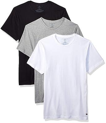 tolle Auswahl bester Verkauf Räumungspreise Tommy Hilfiger Men's Undershirts 3 Pack Cotton Classics Slim Fit Crew  T-Shirt