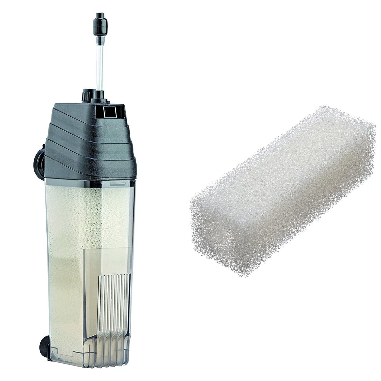 KIT pompa filtro interno dell'acquario 400 l / h Eden 346 per acquari da 120 litri & Spugna di ricambio