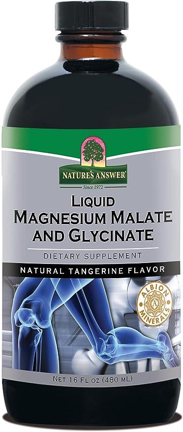 Líquido de magnesio y glicinato de Malate - respuesta de la naturaleza