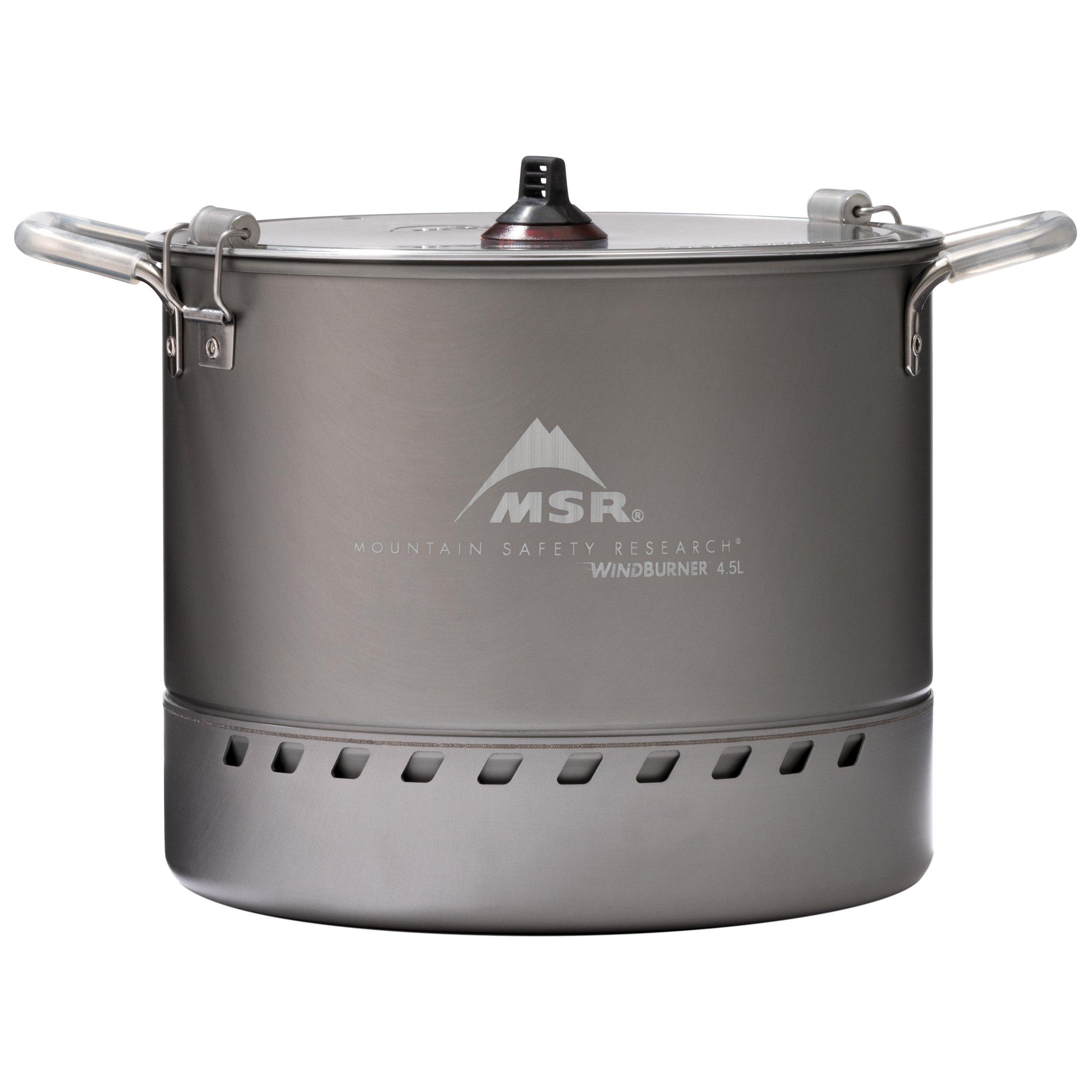 MSR WindBurner 4.5-Liter Camping Stock Pot with Strainer Lid by MSR