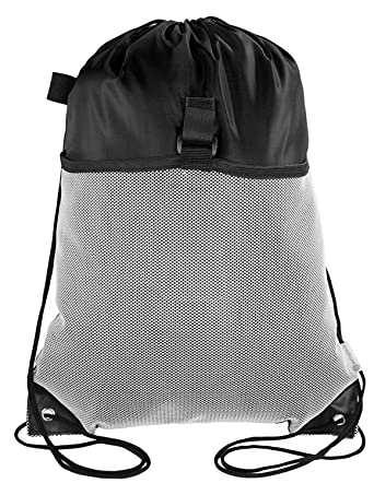 Amazon.com | Mato & Hash Drawstring Cinch Bag Backpack With Mesh ...