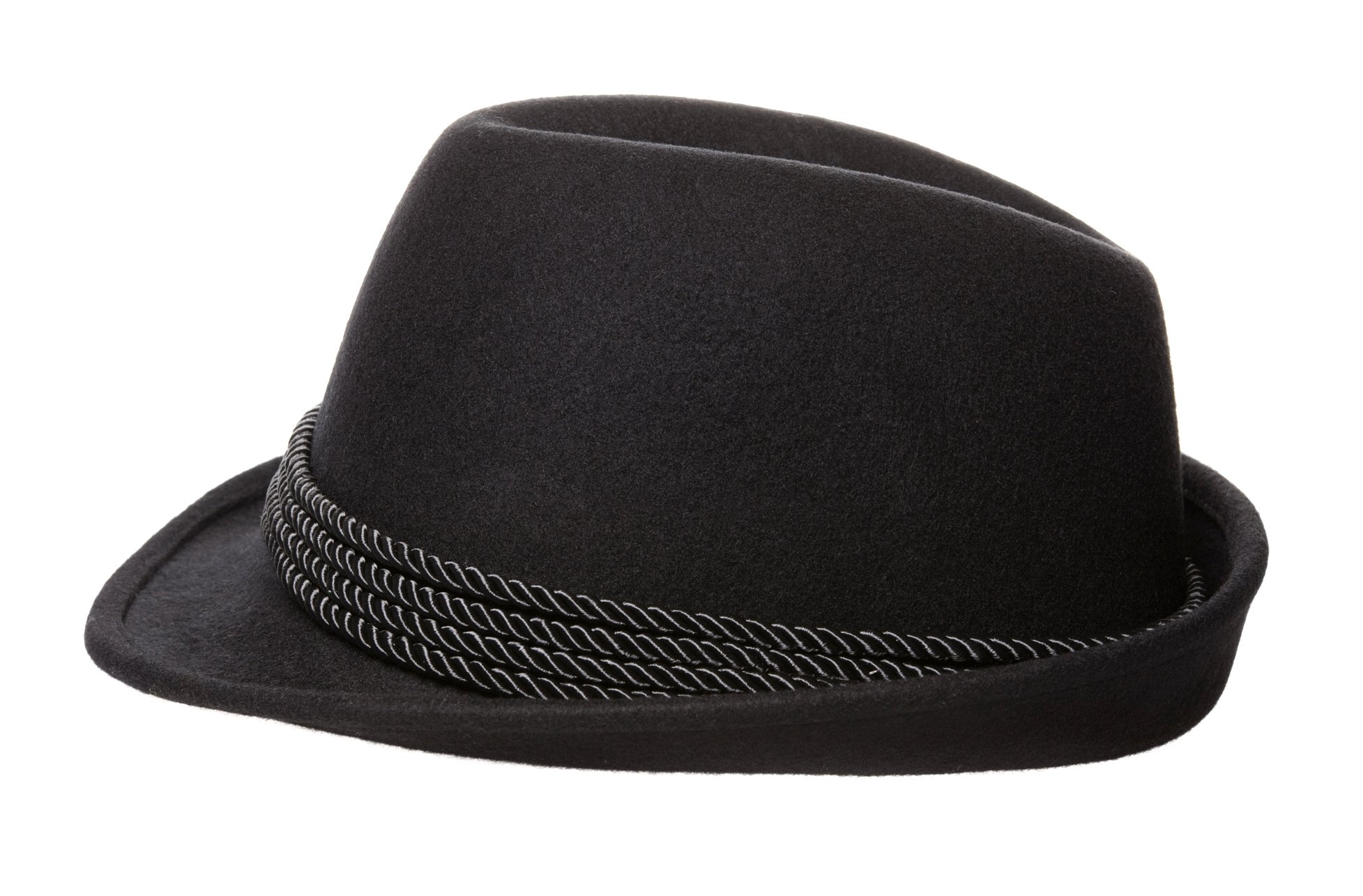 Holiday Oktoberfest Wool Bavarian Alpine Hat - Black Color, Large by Britta Products (Image #4)