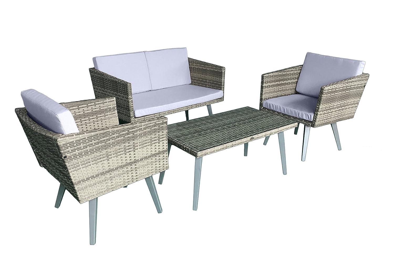 Jet Line Gartenset Cassis Gelb Grau Beige Meliert Lounge Garten Set Neu Gartenmöbel Retro Design Neu Günstig Kaufen