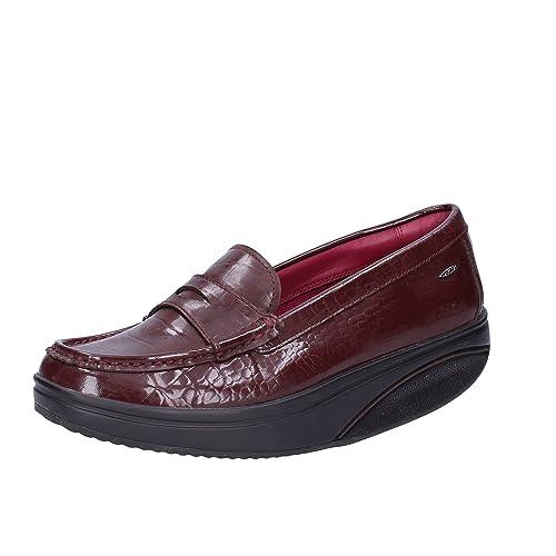 MBT Mocasines Mujer 37 EU Marrón Charol: Amazon.es: Zapatos y complementos