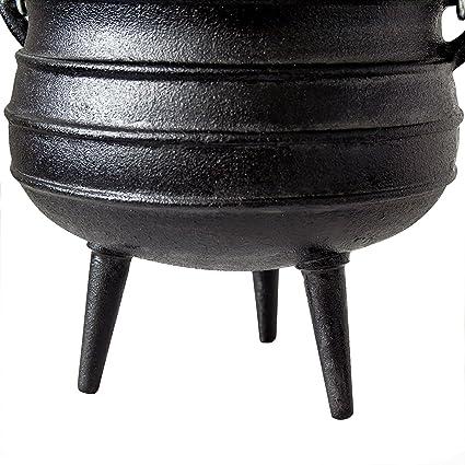 Olla de barbacoa Potjie, típica de Sudáfrica, alternativa al Dutch Oven, diferentes tamaños a elegir: Amazon.es: Jardín