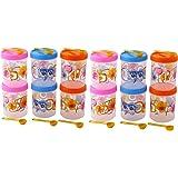 Novicz Plastic Jar Set, 12-Pieces, Multicolour
