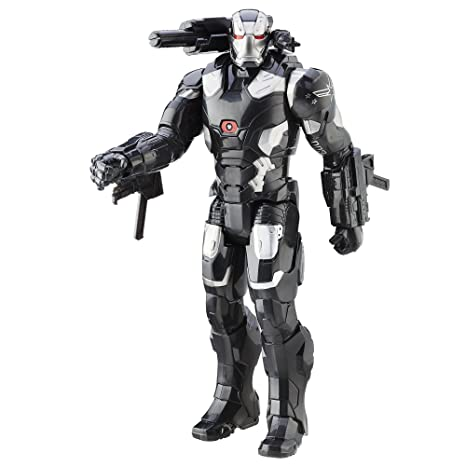 Hasbro Marvel Titan Hero Series War Machine Electronic Figure - 12 Inches Multi Color Toy Figures at amazon