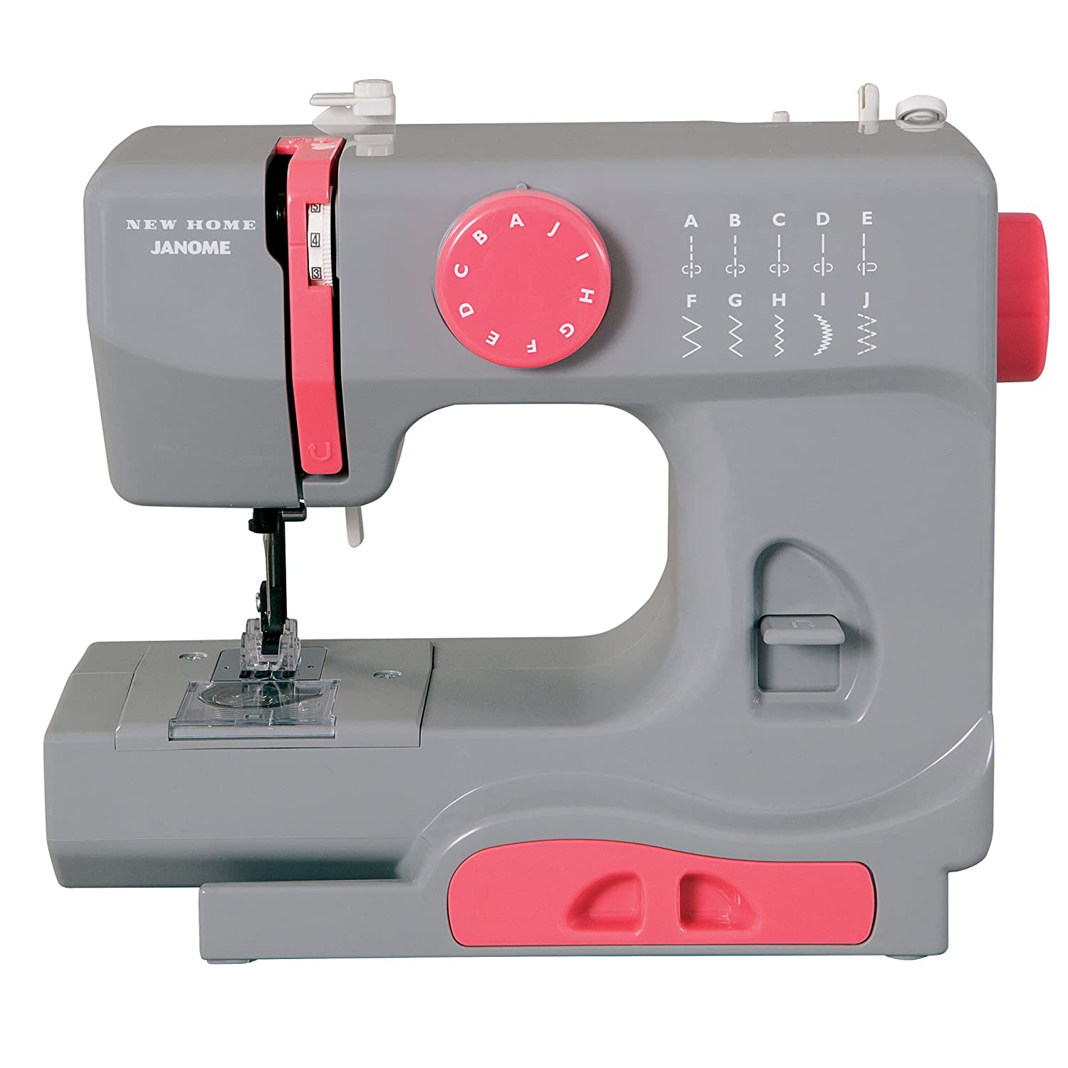 Janome Graceful Gray Basic, Easy-to-Use, 10-Stitch Portable, Compact Sewing Machine