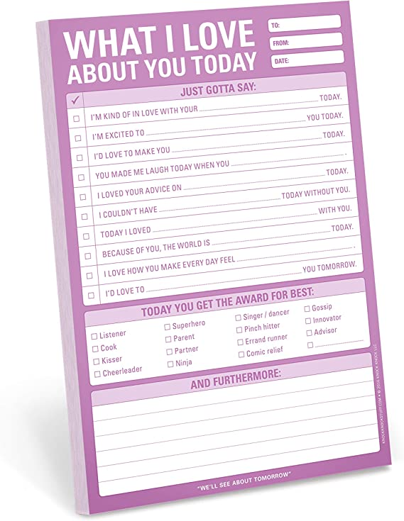 to-do notepad self-love reminder notepad handmade stationary tear away pages Today I will notepad