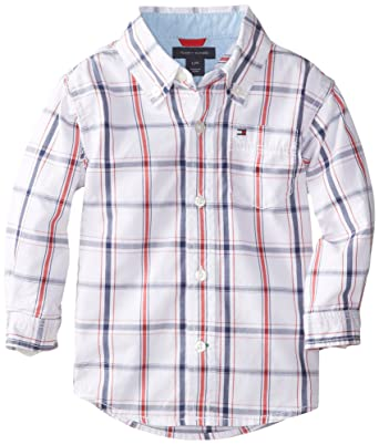 Tommy Hilfiger Baby Boys Samuel Plaid Shirt Amazon In Clothing
