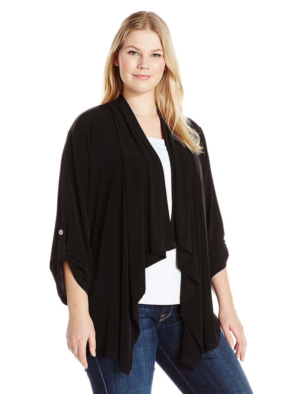 Calvin Klein Womens Plus-Size Plus Size Open Flyaway Cardigan W6LH7852