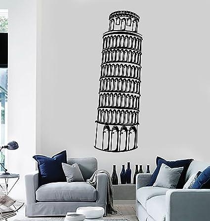 amazon com large vinyl wall decal leaning tower of pisa italy rh amazon com
