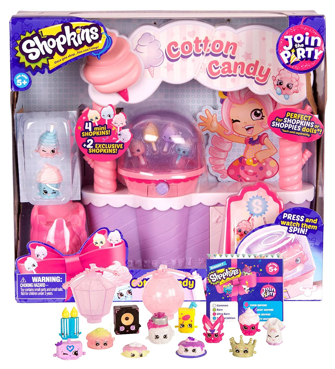 Shopkins Cotton Season and 7 Party Join The Party Cotton Candy Party Playset and 12-Pack Bundle B06XQGR2SS, アップル専門店「PLUSYU楽天堂」:0c115157 --- arvoreazul.com.br
